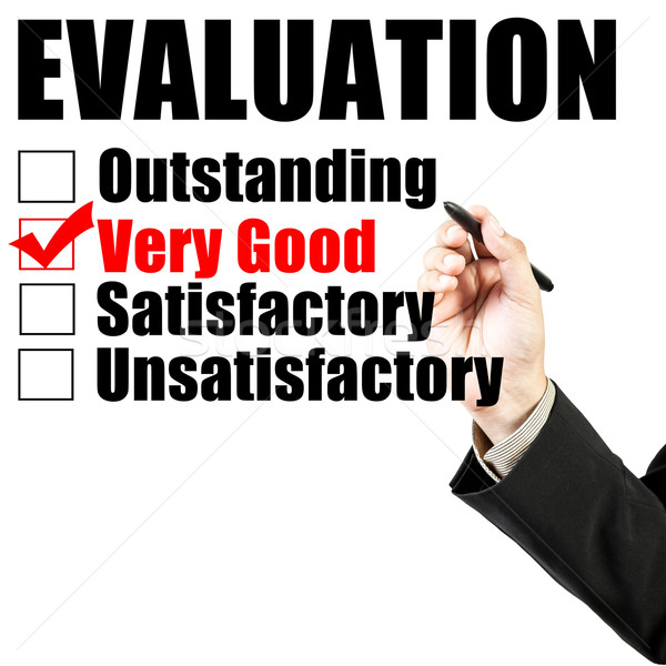 Evaluation form and hand check very good Stock photo © FrameAngel
