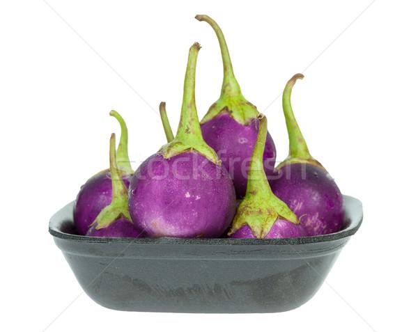 purple eggplant in Styrofoam Food Tray Stock photo © FrameAngel