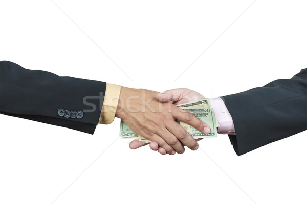 üzletember kéz pénz egyéb korrupció fehér Stock fotó © FrameAngel