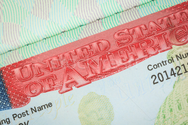 USA amerikaanse visum textuur reizen achtergrond Stockfoto © FrameAngel