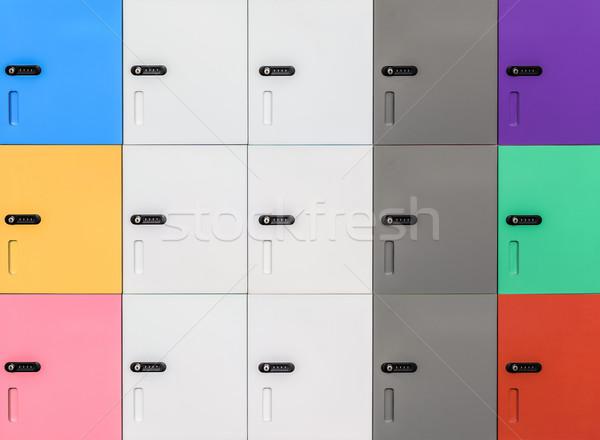 Csetepaté színes biztonság jelszó kód ajtó Stock fotó © FrameAngel