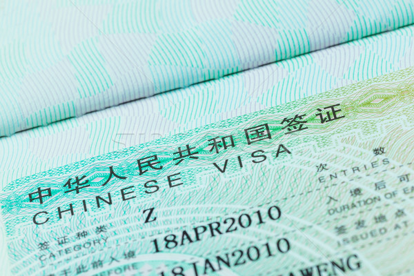 Passport stamp visa and credit card for travel concept backgroun Stock photo © FrameAngel