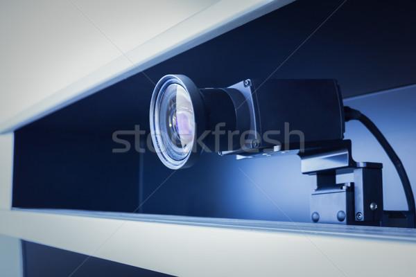 Teleconferentie camera telefoon zakenman mail spreker Stockfoto © FrameAngel