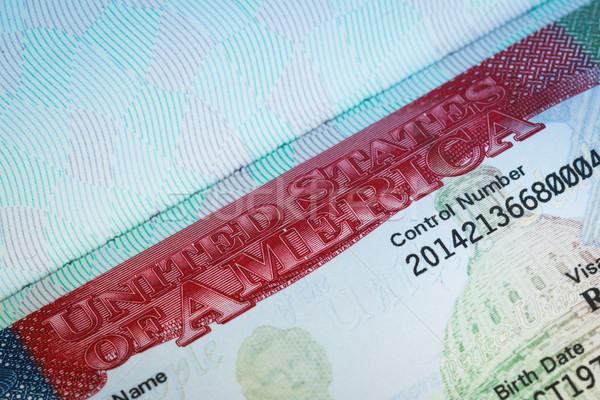 USA amerikai VISA textúra utazás háttér Stock fotó © FrameAngel
