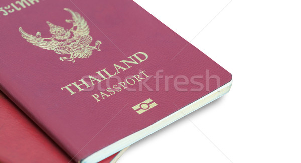 Thailand Passport on table Stock photo © FrameAngel