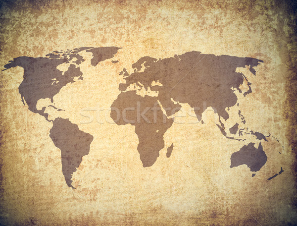 Stock photo: world map grunge