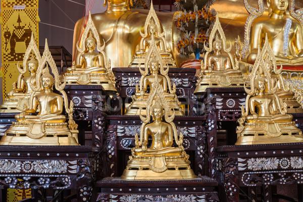 Golden Buddha statue names Buddhachinaraj sit on layer respectiv Stock photo © FrameAngel