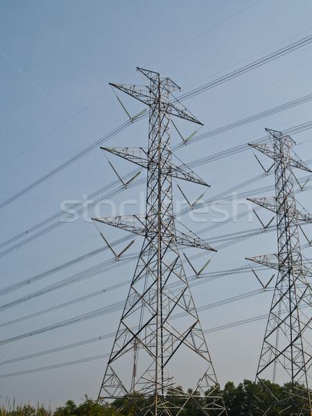 High voltage power pole  Stock photo © FrameAngel