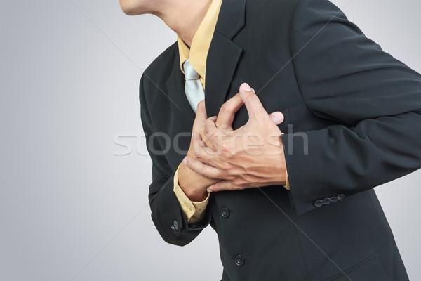 Zakenman hartaanval hart gezondheid mannen pijn Stockfoto © FrameAngel