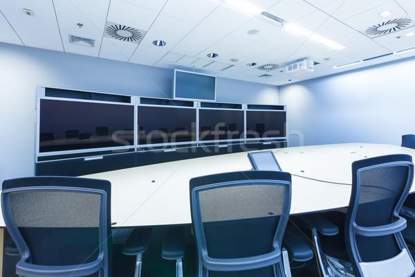 Videó konferencia üzlet üzleti megbeszélés szoba telefon Stock fotó © FrameAngel