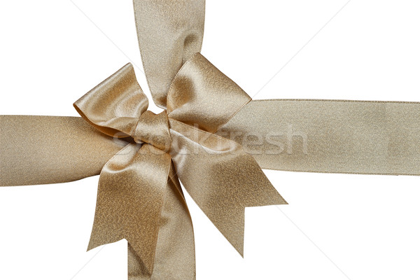 Ouro fita isolado branco papel feliz Foto stock © FrameAngel