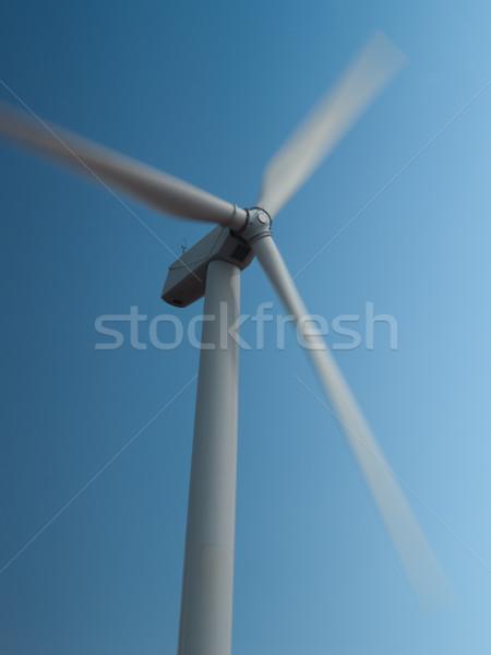 Wind turbines spinning Stock photo © FrameAngel