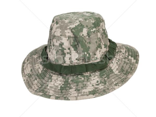 Kamuflaż hat głowie historii wojskowych kultury Zdjęcia stock © FrameAngel