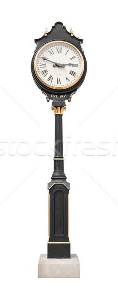 Сток-фото: часы · полюс · Смотреть · ветер · антикварная · башни