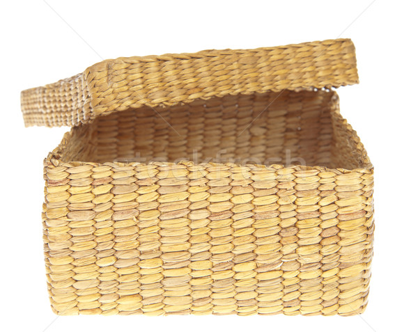 open wicker basket isolated on white background  Stock photo © FrameAngel