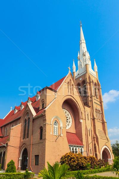 католический Церкви Мьянма крест окна зданий Сток-фото © FrameAngel