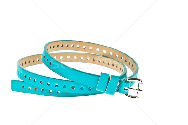 colorful blue belt on white background Stock photo © FrameAngel