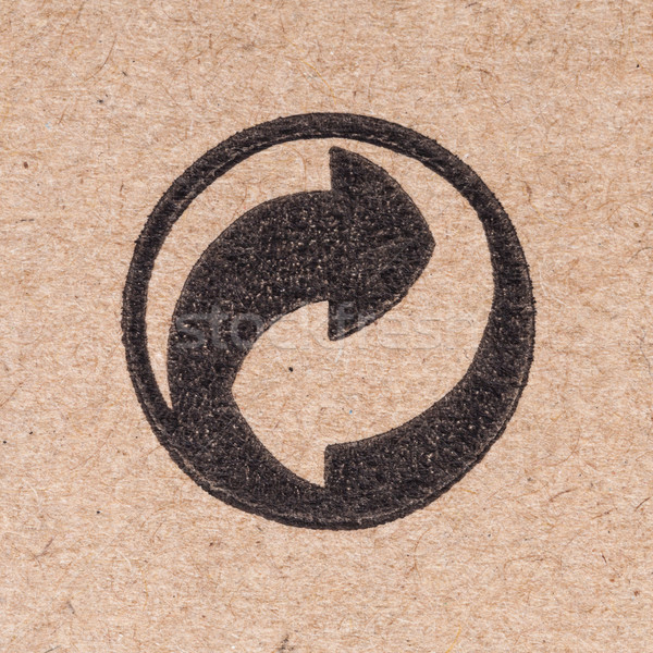 recycling green dot symbol fragile on cardboard box Stock photo © FrameAngel