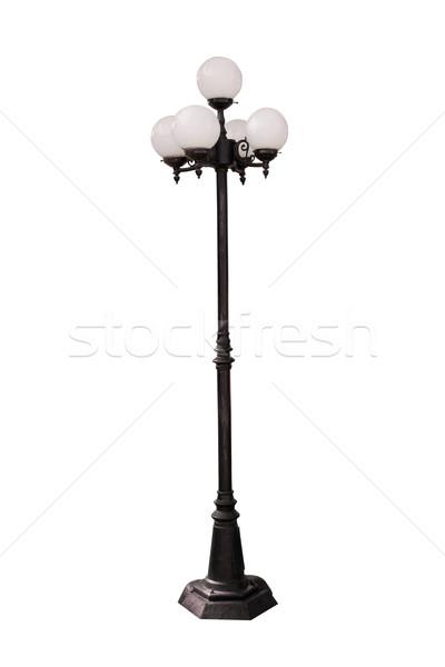 Lamp Post Street Road Light Pole on white background Stock photo © FrameAngel