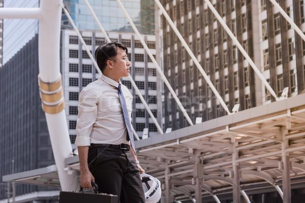 Asian affaires sensation plein d'espoir avenir Photo stock © FrameAngel