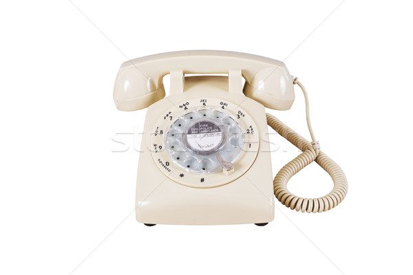 Retro rotary vintage telephone on white background Stock photo © FrameAngel