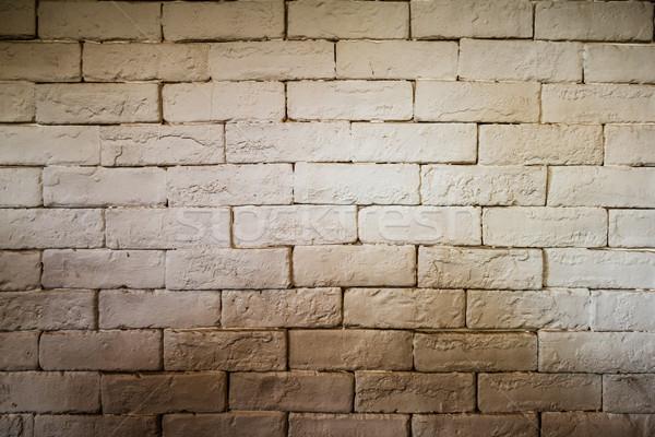 white brick wall grunge texture for background Stock photo © FrameAngel