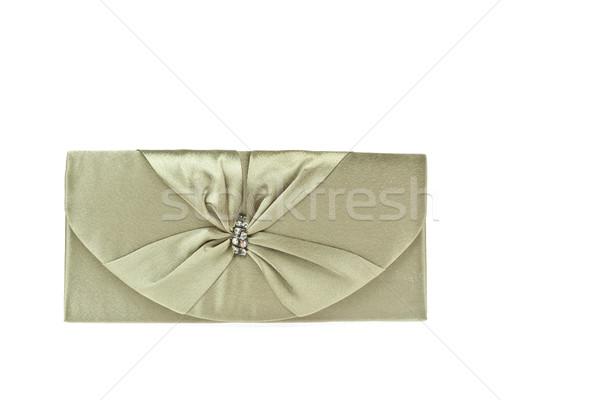 Frauen Kupplung Tasche isoliert weiß Schönheit Stock foto © FrameAngel