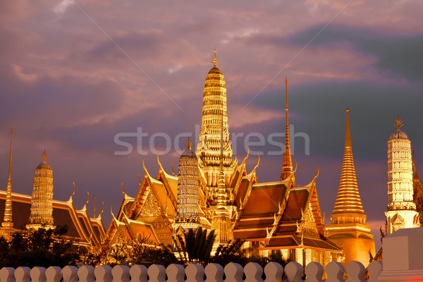 twilight, Thai temple in Grand Palace, Bangkok, Thailand Stock photo © FrameAngel
