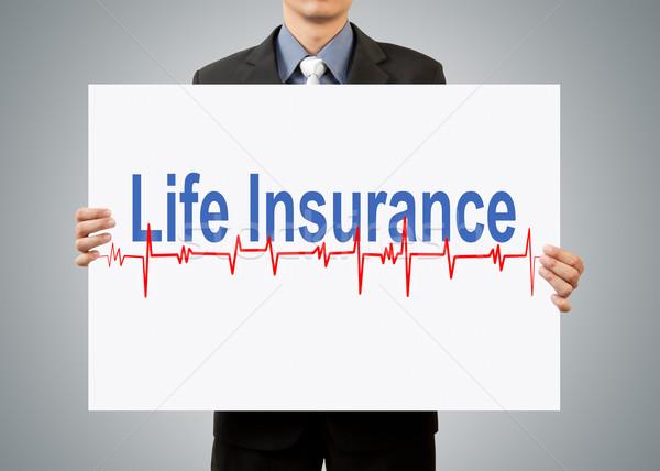 Imprenditore assicurazione sulla vita business carta lavoro Foto d'archivio © FrameAngel