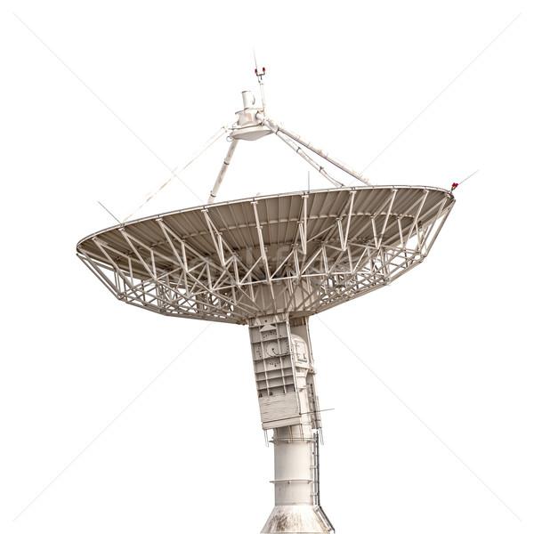 Antena satelitarna anteny radar duży rozmiar odizolowany Zdjęcia stock © FrameAngel
