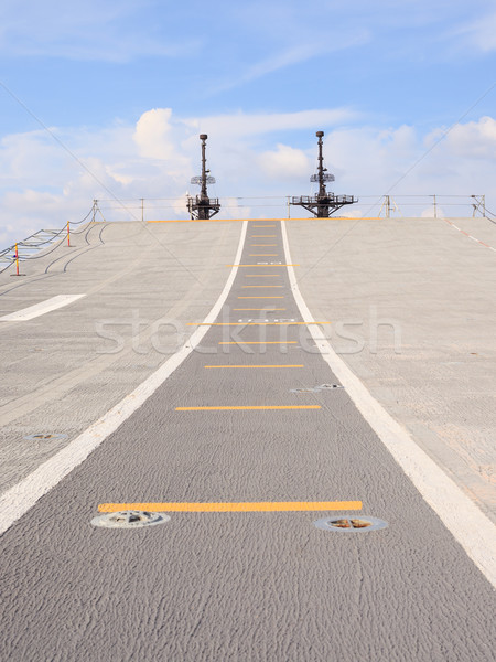 Runway on an Aircraft Carrier  Stock photo © FrameAngel