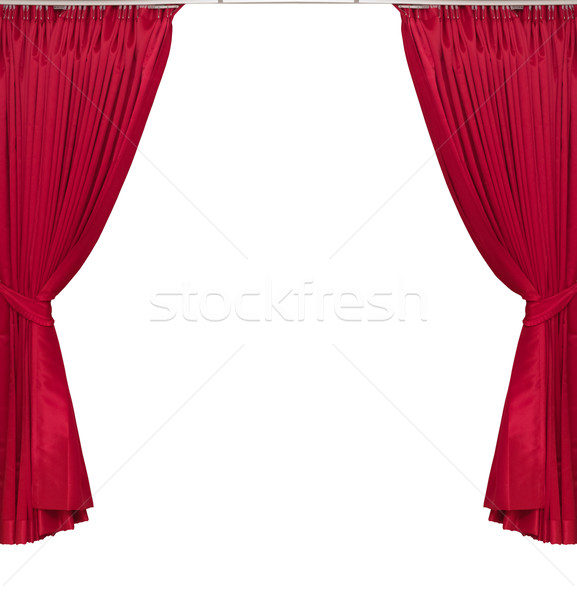 red curtains on white background Stock photo © FrameAngel