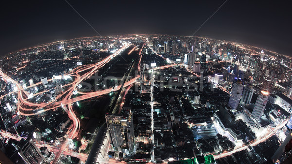 Stadsgezicht nacht Bangkok vogel oog Stockfoto © FrameAngel