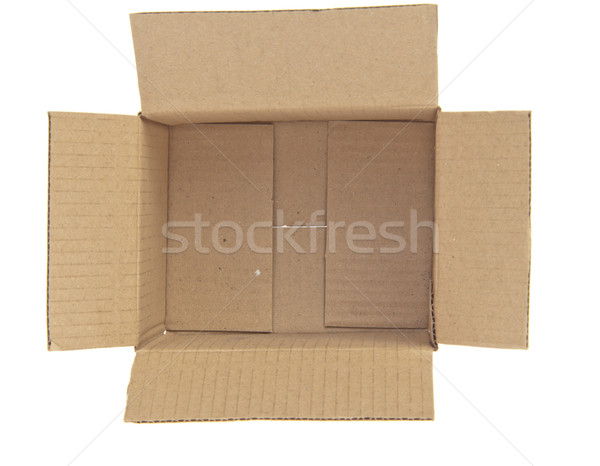Open Corrugated cardboard box isolated on white background top v Stock photo © FrameAngel