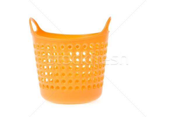 красочный пластиковых корзины торговых оранжевый сумку Сток-фото © FrameAngel