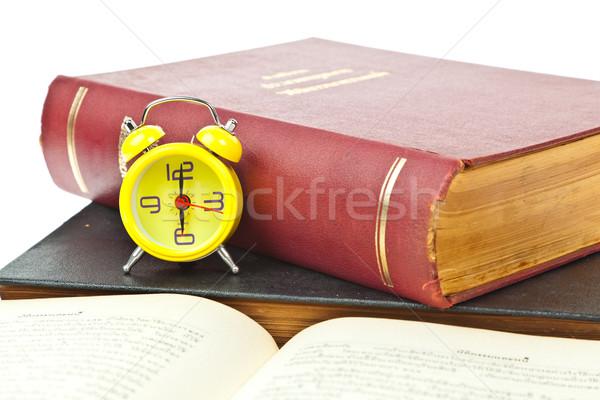 óra könyv időbeosztás papír iskola diák Stock fotó © FrameAngel