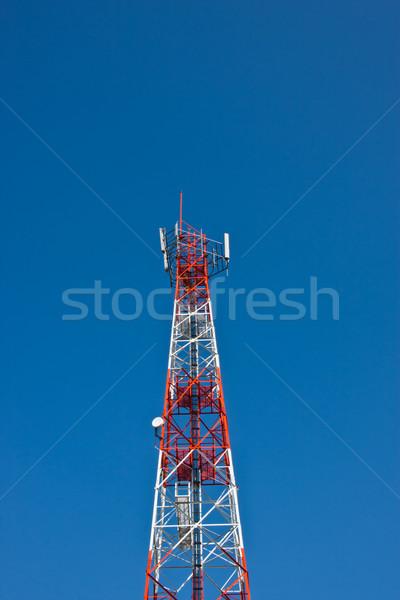 携帯電話 通信 アンテナ 塔 青空 テレビ ストックフォト © FrameAngel