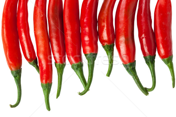 Red chili peppers isolated on the white  Stock photo © FrameAngel