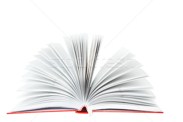 open red book on white background  Stock photo © FrameAngel
