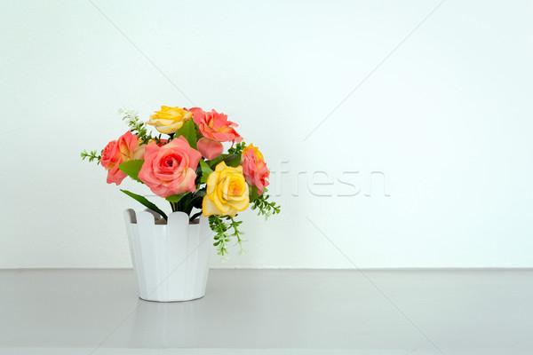 flower on white table Stock photo © FrameAngel