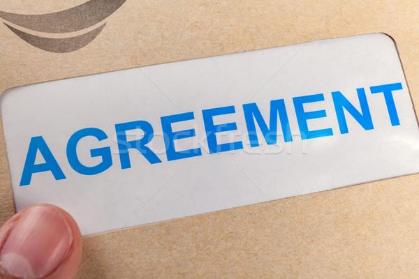 страхования утверждать форме коричневый конверт можете Сток-фото © FrameAngel