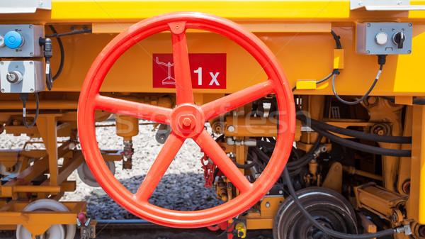 Stuur trein dienst technologie metaal olie Stockfoto © FrameAngel