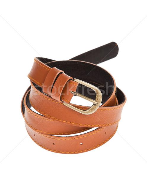leather brown belt Stock photo © FrameAngel