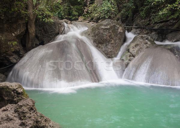 Wodospad poziom Tajlandia wody lasu krajobraz Zdjęcia stock © FrameAngel