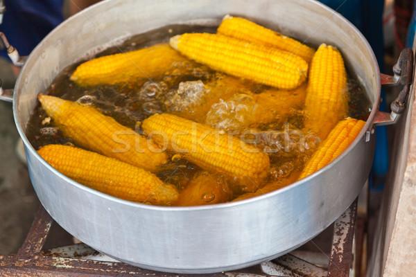 fruit, corn in boiler Stock photo © FrameAngel