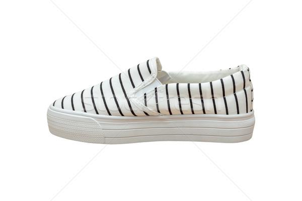 Vintage preto e branco cor isolado moda esportes Foto stock © FrameAngel