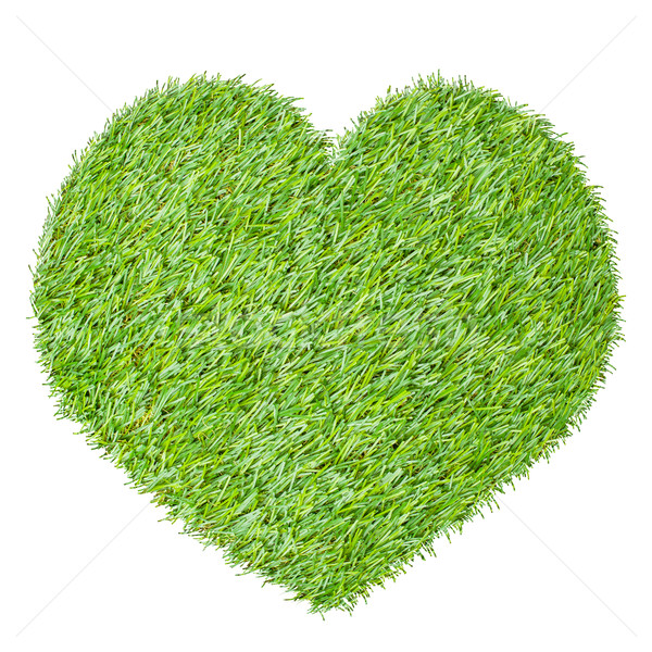 heart from the green grass, isolated on white Stock photo © FrameAngel
