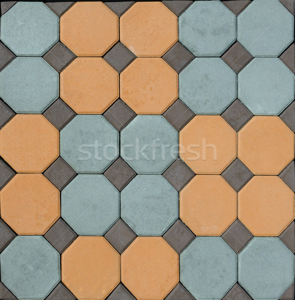 tile  paving slabs and mosaic colored pavers of small stones tex Stock photo © FrameAngel