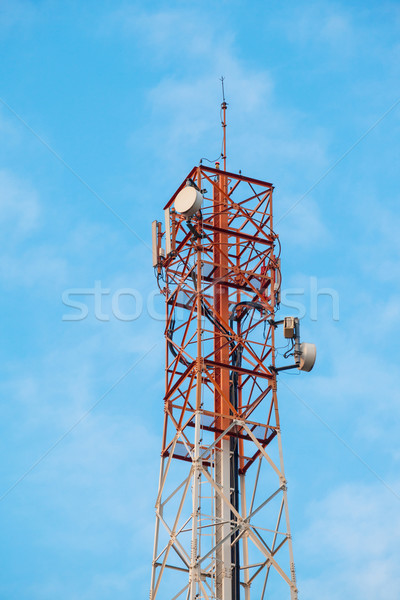 Telecommunication tower with antennas Stock photo © FrameAngel