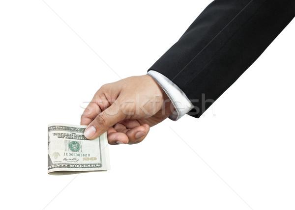business man giving money Stock photo © FrameAngel